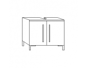 Kesper San Remo Waschbeckenunterschrank 2T, Weiß