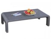 Tisch Nizza 1 aus Polyrattan, grau