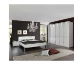Schlafzimmer Komplettset in Weiß Strass (4-teilig)