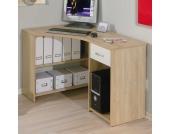 Eck Computertisch in Eiche Sonoma Günstig kaufen