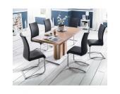 Tischgruppe mit Freischwingerstühlen modern (7-teilig)
