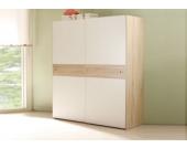 Jumbo Möbel Schwebetürenschrank WIKI Eiche Sonoma / weiß