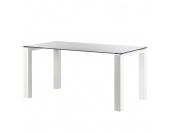 Glastisch Palma - Weiß lackiertes Glas/Lack Weiß - 140 x 90 cm, Niehoff