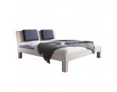 Massivholzbett Max (optional Bettkästen) - 180 x 200cm - Kein Bettkasten - Buche Weiß gewischt, Relita