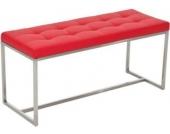 2er Edelstahl-Sitzbank BARCI, 100 x 40 cm, gepolstert, bis zu 12 Farben wählbar, Sitzhöhe 48 cm