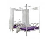 Himmelbett Alice Springs - Weiß - Mit Matratze und Rollrost, Home Design