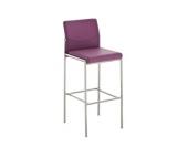 Edelstahl-Barhocker TORINO, Barstuhl mit 4 Beinen, Kunstlederbezug - aus bis zu 11 Farben wählen - Sitzhöhe 78 cm