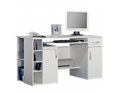 Computertisch Jasper - Weiß, home24 office