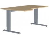 Computertisch in Ahorn Dekor 180 cm breit