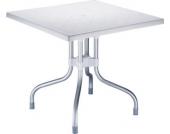 hochwertiger Aluminium Gartentisch FORZA 80 x 80 cm, Höhe 72 cm, Platz sparender Klapptisch, ideal für den Balkon & Camping