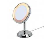 Standspiegel Jessica - Chrom, beleuchtet, 5-fache Vergrößerung, Sanwood