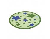 Kinderteppich Sterne rund - Grün, Zala Living