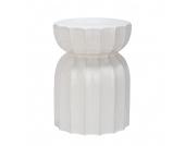 Keramikhocker Lotosgarten - Weiß, Safavieh