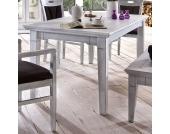 Holztisch in Weiß Pappel teilmassiv
