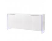 EEK A+, Sideboard Brunetti (inkl. Beleuchtung) - Hochglanz Weiß, loftscape