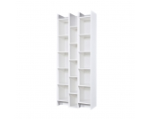 Bücherregal in Weiß Pinie Massivholz