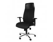 Chefsessel High Sit up - ergonomisch geformt/Lederkopfstütze - Schwarz, Topstar