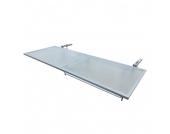 Balkonklapptisch Opal II - Stahl / Glas, Merxx