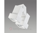 Decken- oder Wandstrahler STYLE Q 2-flammig weiß