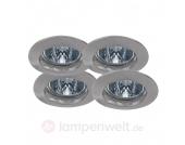 Premium SECURE NV-Einbauleuchten-4er-Set, Eisen g.