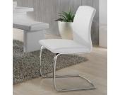 Freischwinger Stuhl in Weiß modern (4er Set)