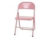 Stuhl in Rosa klappbar (4er Set)
