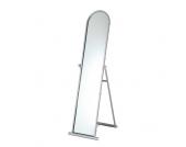 Standspiegel aus Stahl Alufarben