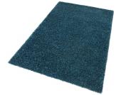 my home Hochflor-Teppich »Finn«, blau, 120x180 cm