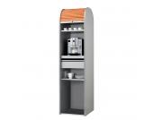 Büroschrank Dancer - Silber - Orange - Ohne Kühlschrank, MS Schuon