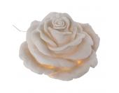 Gartenleuchte Rose - Sandstein - Weiß, Pure Day