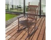 1PLUS Klassischer Schaukelstuhl aus Massivholz für den gemütlichen Komfort zuhause Sandro Dunkelbraun