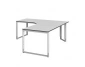 Höhenverstellbarer Schreibtisch in L- Form Weiß