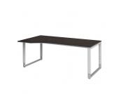 Schreibtisch in Braun Grau höhenverstellbar