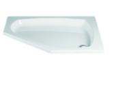 HSK Acryl-Duschwanne Fünfeck 100 flach mit Schürze