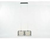 Deckenleuchte Hängeleuchte mit Glaskugeln schwarz/weiß 2-flammig