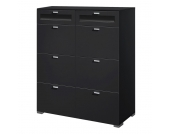 Highboard in Schwarz