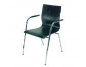 Besucherstuhl Braccio - mit Armlehnen - Sitzauflage: Wenge/Buche, Nowy Styl