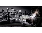 Home Affaire Bild Kunstdruck »Evening in New York«, 100/50 cm