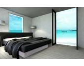 Ocean Mono Wasserbett, 140 x 200 cm, weiß, F3
