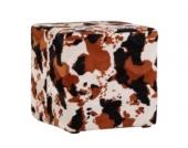 IOVIVO Polsterhocker Cow quadratisch