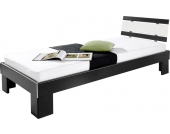 Schlafwelt Futonbett, schwarz, 90/200 cm, nur Bettgestell