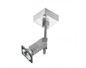 EEK D, Decken-/Wandstrahler Alumini 1 - 1-flammig, Aluminium/Chrom, In Nova Design
